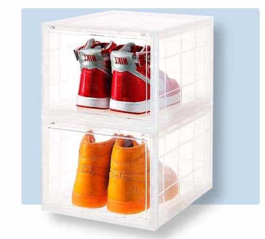 best sneaker shoe storage box for men