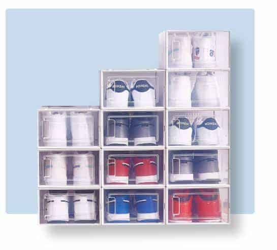 Clear shoe storage box for men