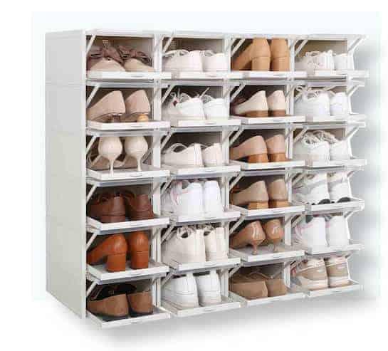 Grey shoe boxes