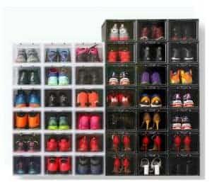 Black drop front shoe box