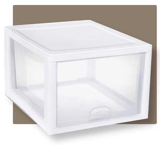 sterilite durable shoe container