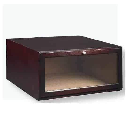 wooden brown shoe box