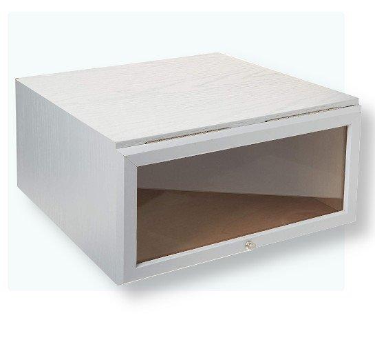 wooden shoe box white oak