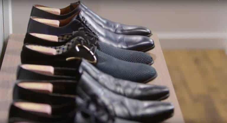 A shoe tree takes care of your shoes