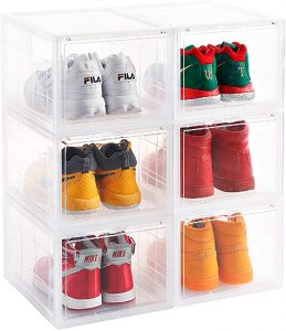 clear shoe box for large sneakers