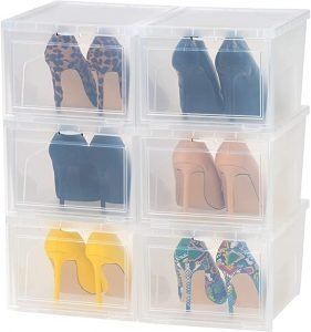 clear plastic shoe boxes for high heels